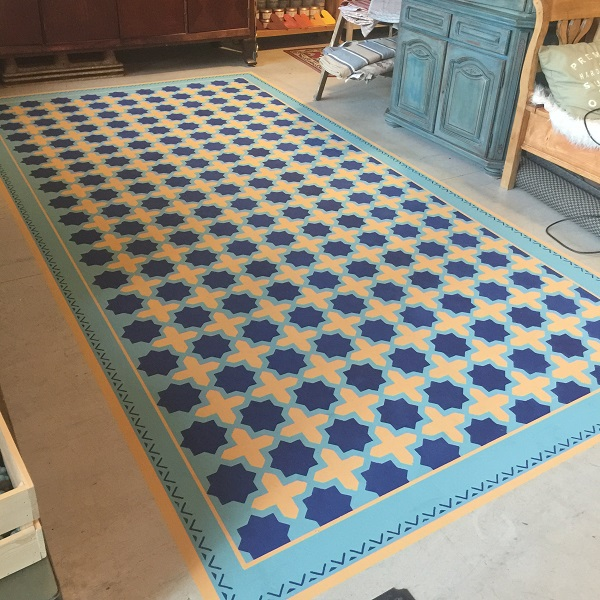 Koberec namaľovaný na podlahe