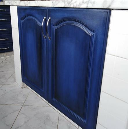 Kuchyňa v modrom