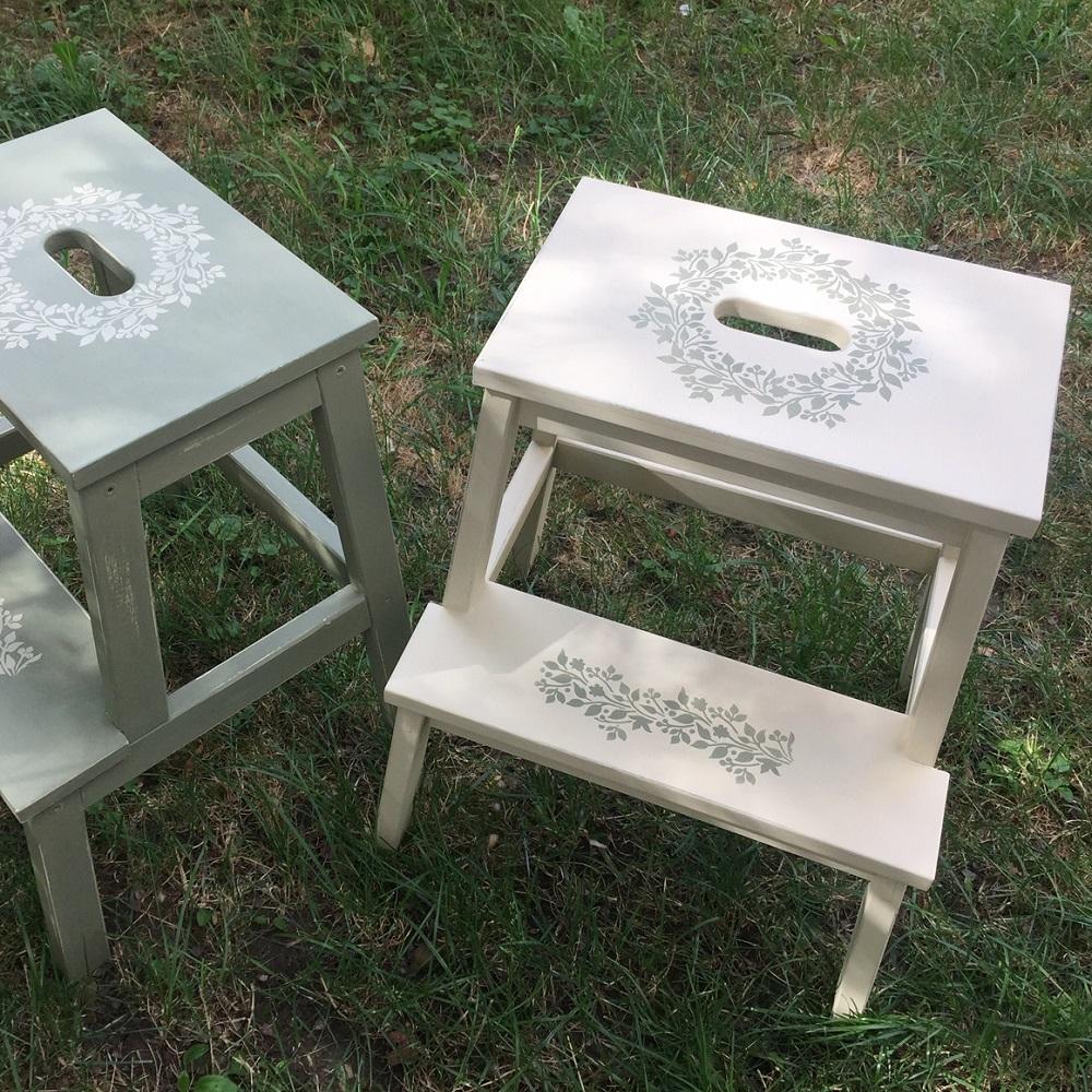 Maľované romantické stolčeky