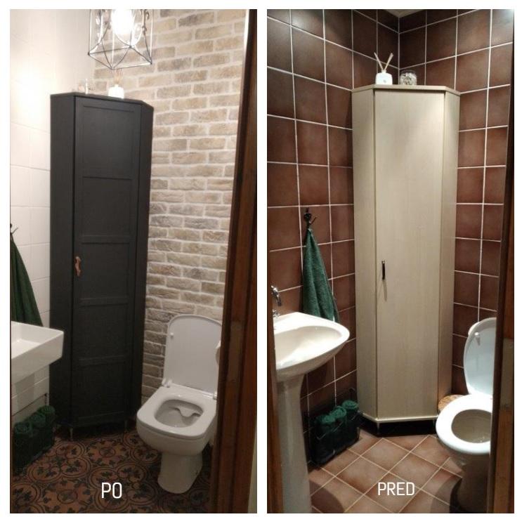 Toaleta po malej zmene