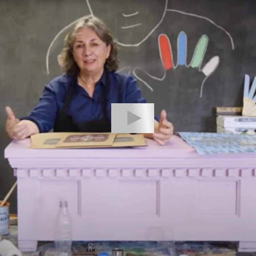 Ako vytvoriť nepravidelné vzory s Chalk Paint