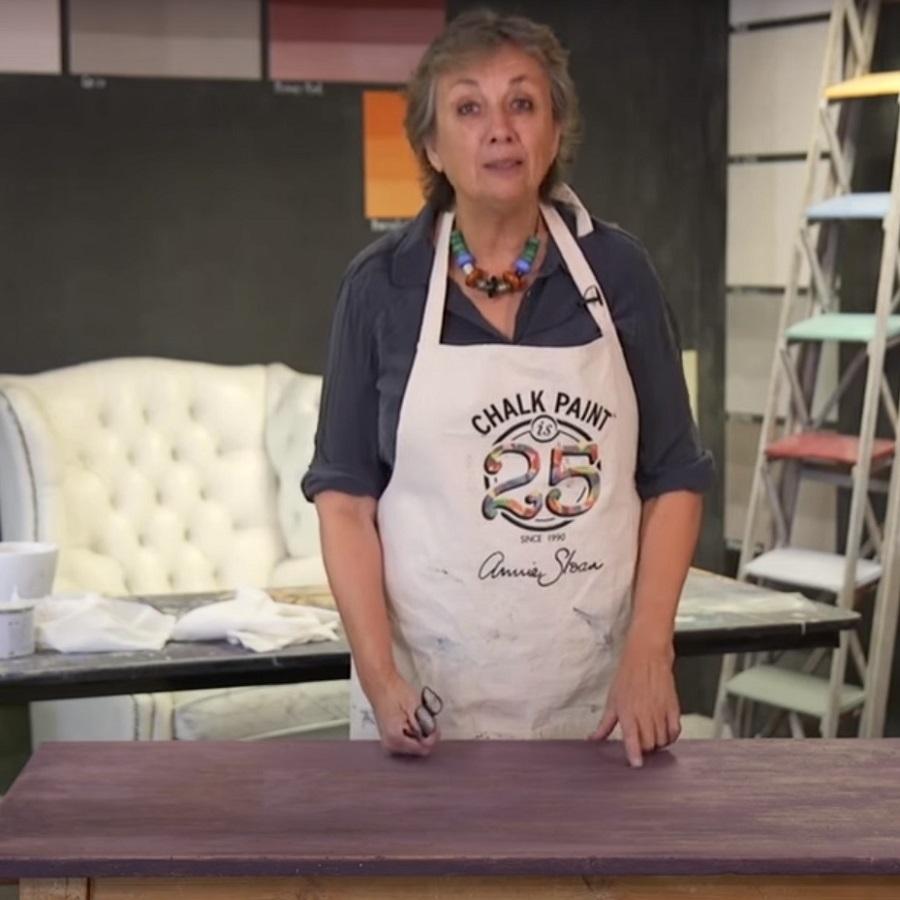 Mahagónový efekt pomocou Chalk Paint™ a tmavého vosku - 2. časť